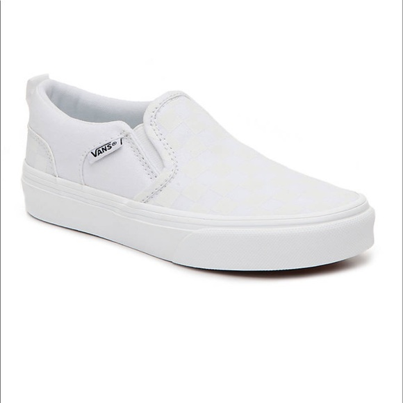 Nwt Leather Slip Ons Checkers Asher